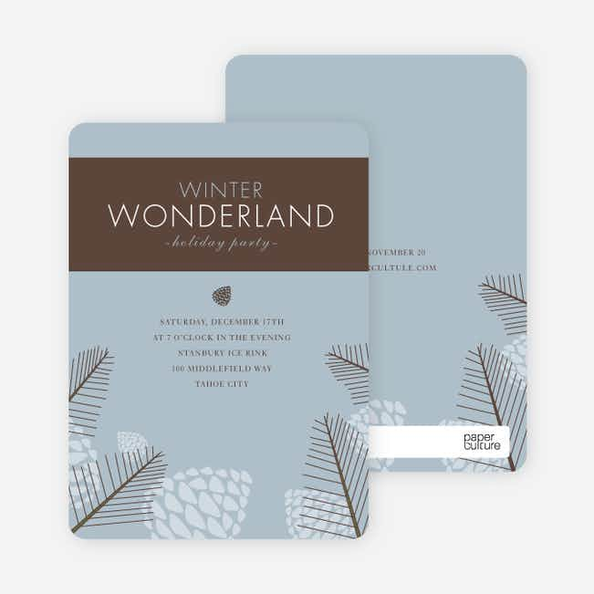 Winter Wonderland Holiday Invitations - Powder Blue