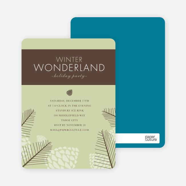 Winter Wonderland Holiday Invitations - Celadon
