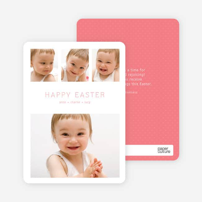 3 over 1 Easter Photo Cards - Pink