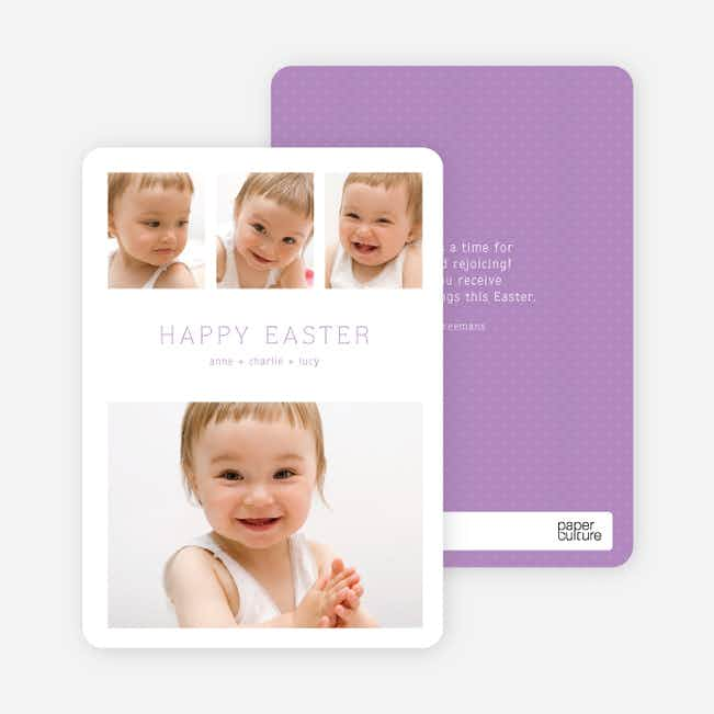 3 over 1 Easter Photo Cards - Purple