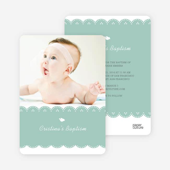 Dove Baptism Invitations - Blue