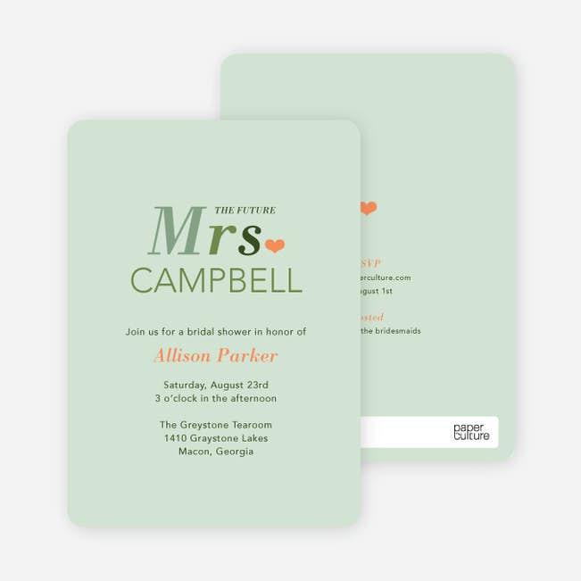 the future mrs bridal shower invitations paper culture