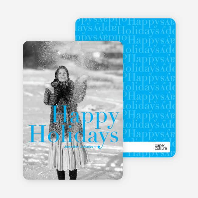 A Simple Happy Holidays - Royal Blue