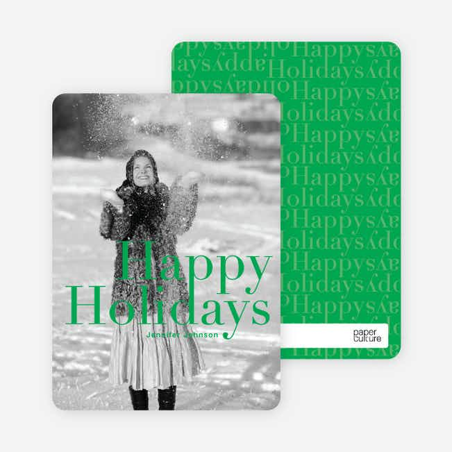 A Simple Happy Holidays - Jade Green