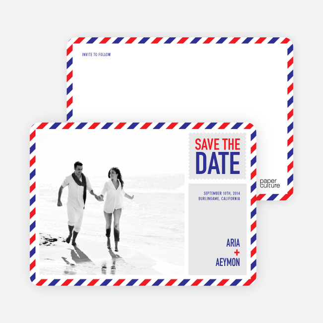 Airmail Save The Date Photo Cards