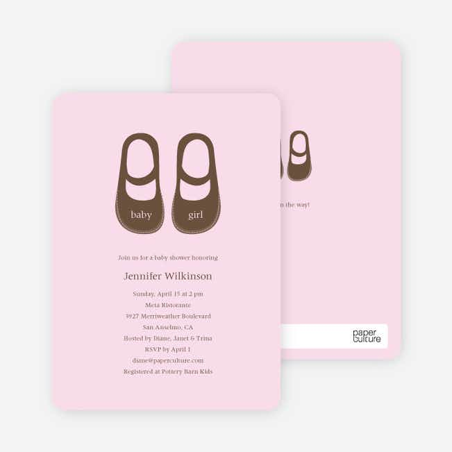 Baby's Got a New Pair of Shoes Baby Shower Invitations - Blush