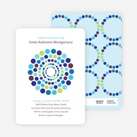 colorful dots baby shower invitations paper culture