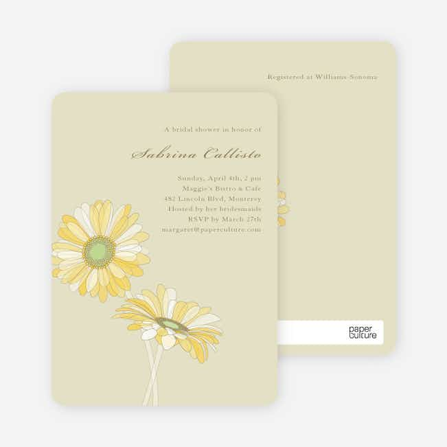 Elegant Flowers Bridal Shower Invitations - Dirty Blonde