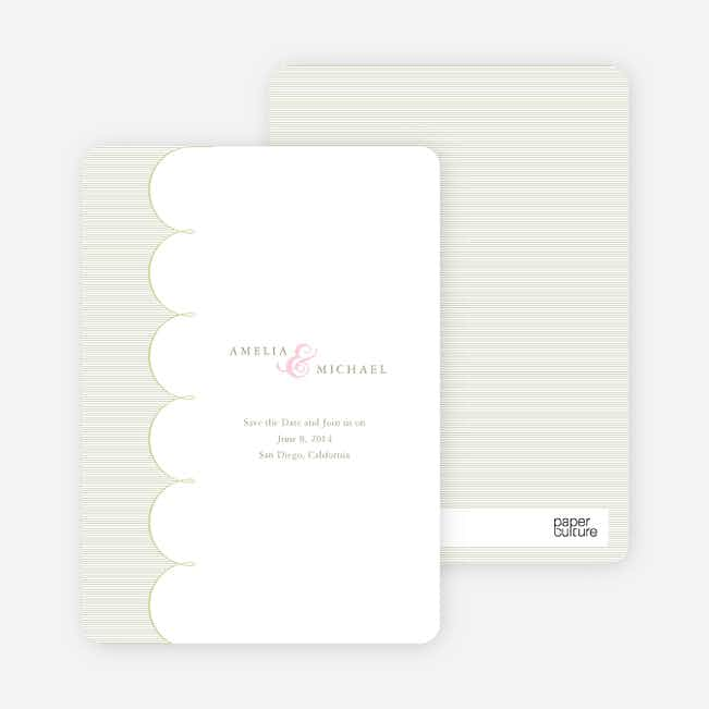 Elegant Save the Date Cards with a Cloud Theme - Cash