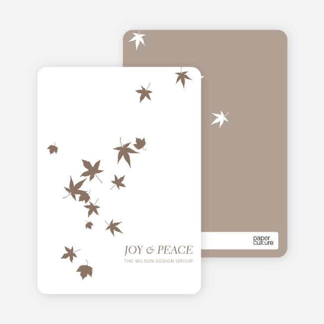 Falling Leaves Holiday Cards - Walnut