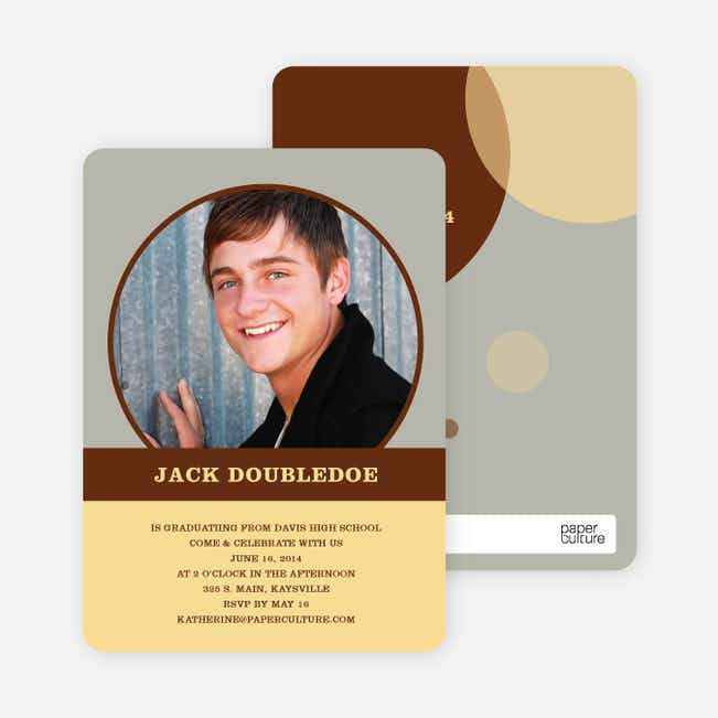 Fun Photo Graduation Announcements - Latte