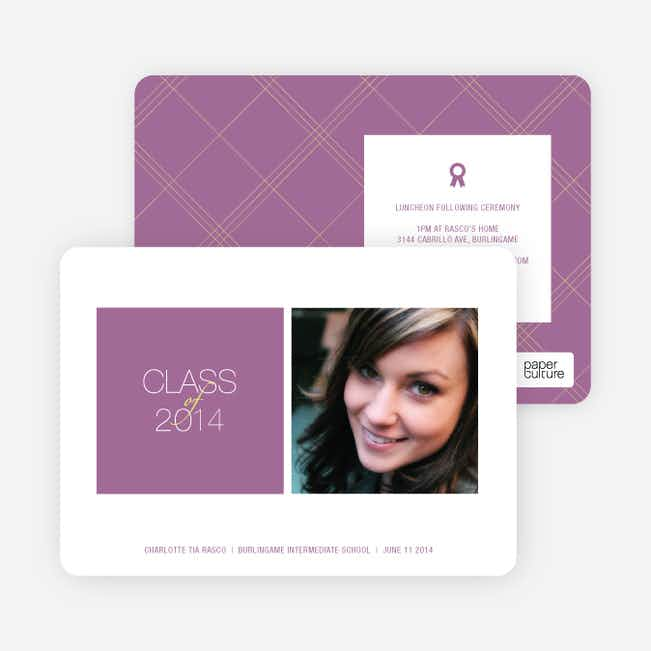 Graduation Squares Invitations - Grape Cheesecake