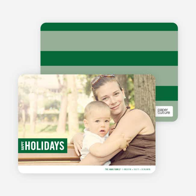 Holiday Band Holiday Photo Cards - Forest Green