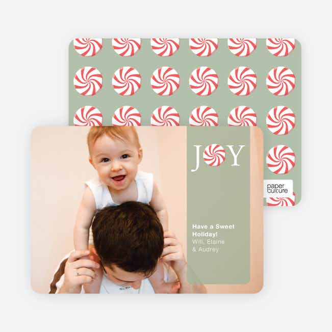 How Sweet It Is Holiday Photo Cards - Celadon