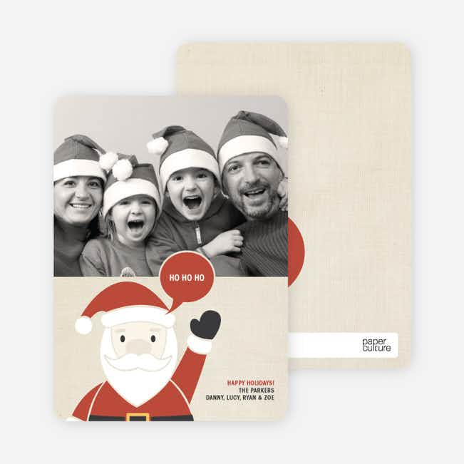 Jolly Old St Nick Photo Cards - Terra Cotta