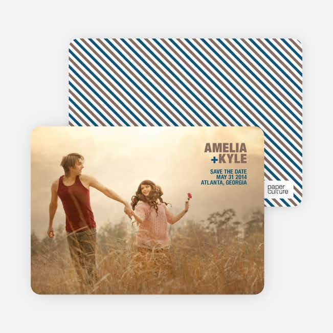 Less is More Save the Date Cards - Mocha