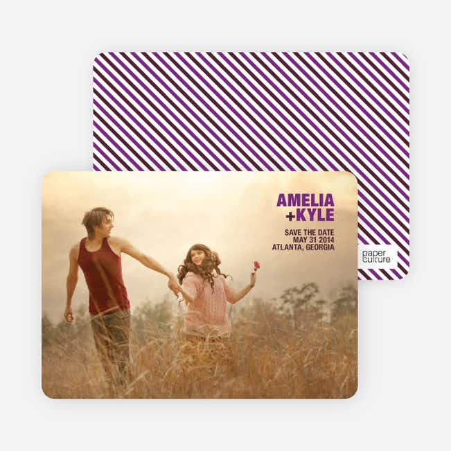 Less is More Save the Date Cards - Magenta