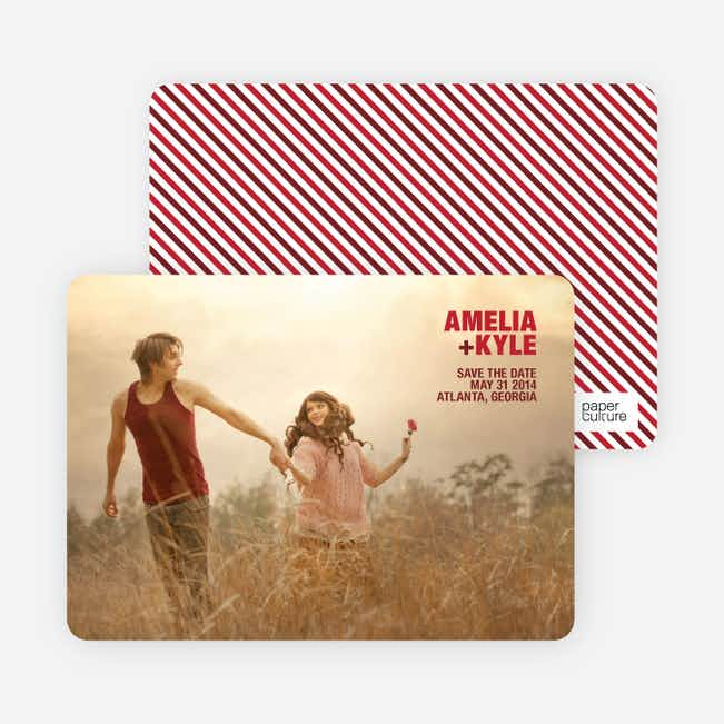 Less is More Save the Date Cards - Brick Red