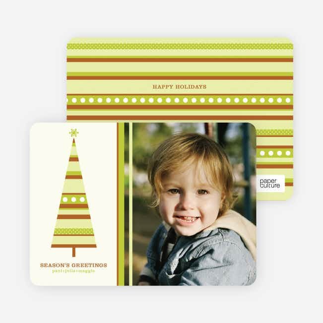 Modern Christmas Tree Photo Card - Chartreuse