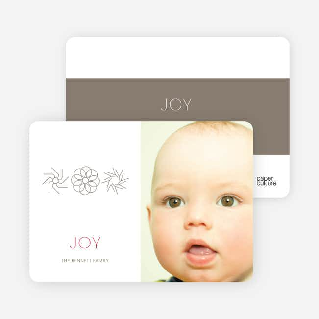 Modern Holiday Joy Photo Cards - Silver Grey