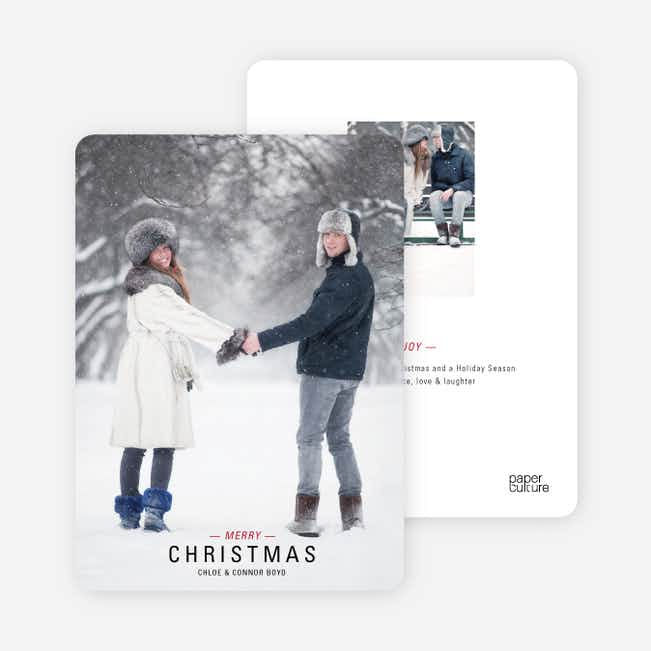 Movie Poster Holiday Photo Cards - Brick Red
