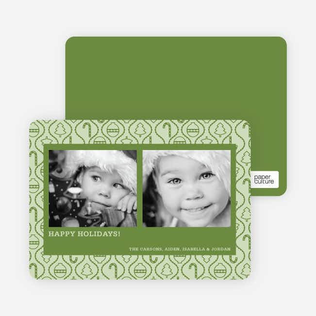 Ornament Border Holiday Photo Cards - Bamboo