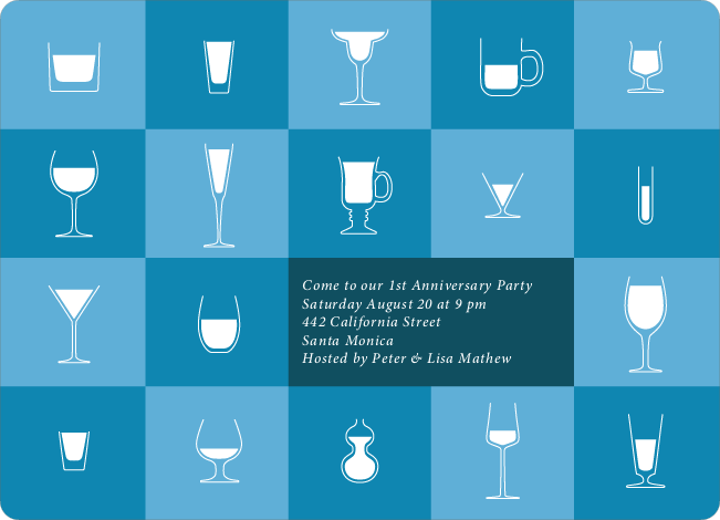Party Glasses – the Ultimate Party Invitations - Cadet Blue