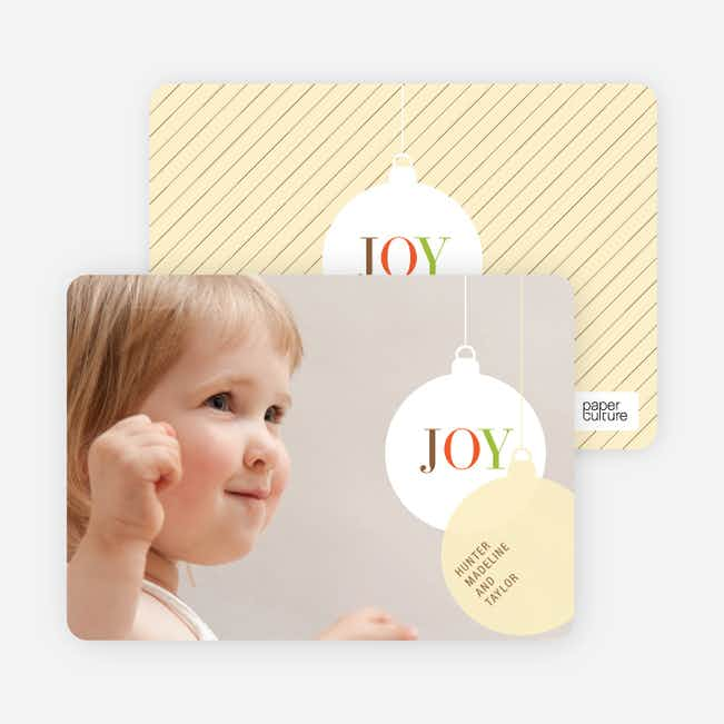 Photo Holiday Ornament Christmas Card - Lemongrass