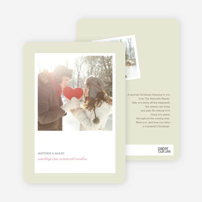 Instant Memories Holiday Photo Cards - Sangria