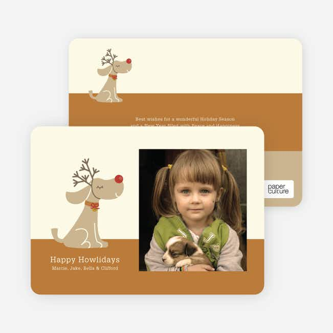 Rudy the Holiday Dog Holiday Photo Cards - Caramel