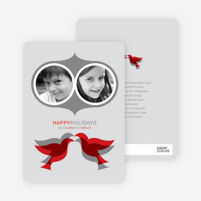 Seeing Double Holiday Cards - Silver