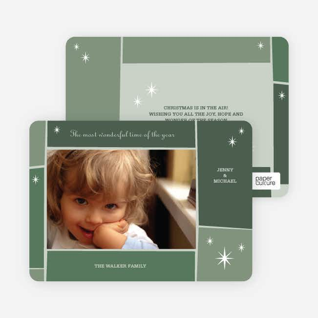 Star Light, Star Bright Holiday Photo Cards - Forest