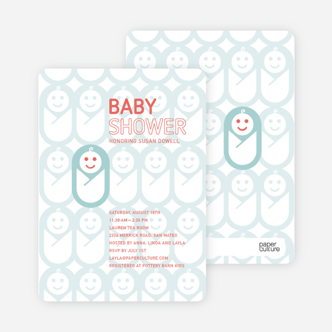 swaddle me this baby shower invitations paper culture