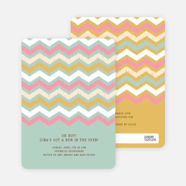 Zig zag pinterest tag baby shower invitations paper culture stopboris Choice Image