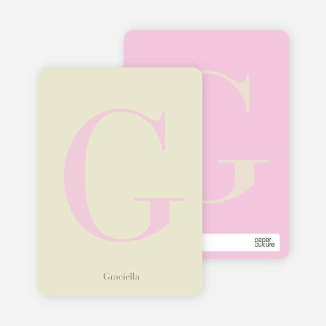 Distinct Letters Personalized Note Cards - Chiffon