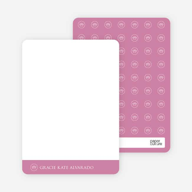 Notecards for the 'Studio Series' cards. - Pink