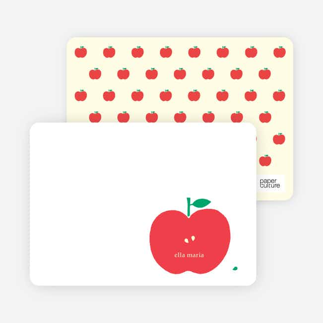 Personal Stationery for Appleseed Winks Modern Baby Announcement - Tomato Red