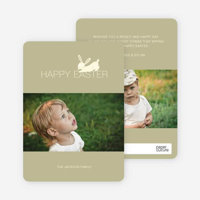 Easter Bunny Photo Card - Waki Khaki