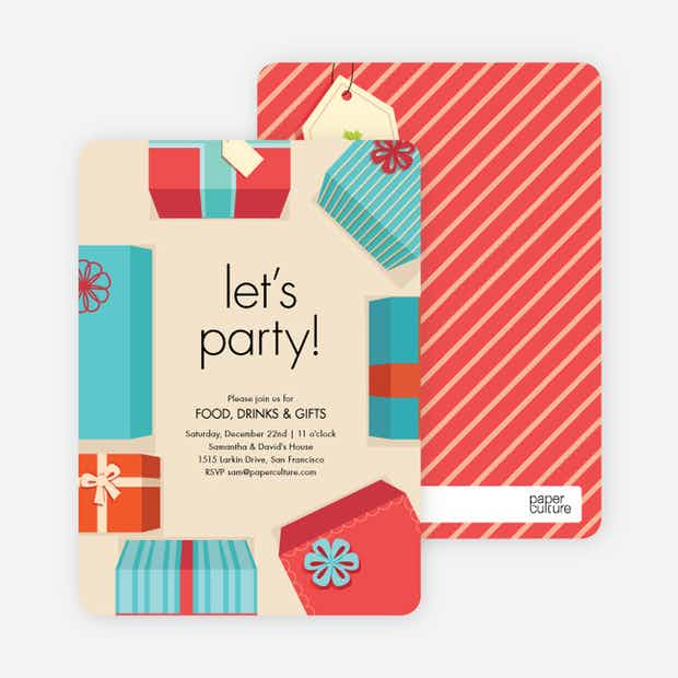 Gift Exchange Invitations - Main