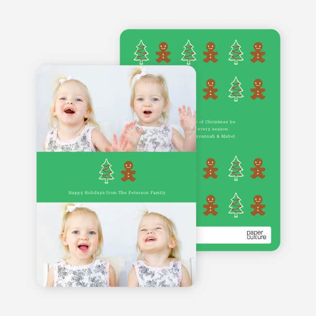 Gingerbread Man Holiday Photo Cards - Bronze