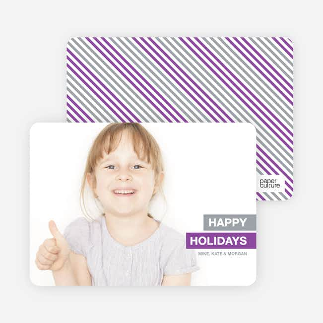 Happy Holidays Photo Card - Gray