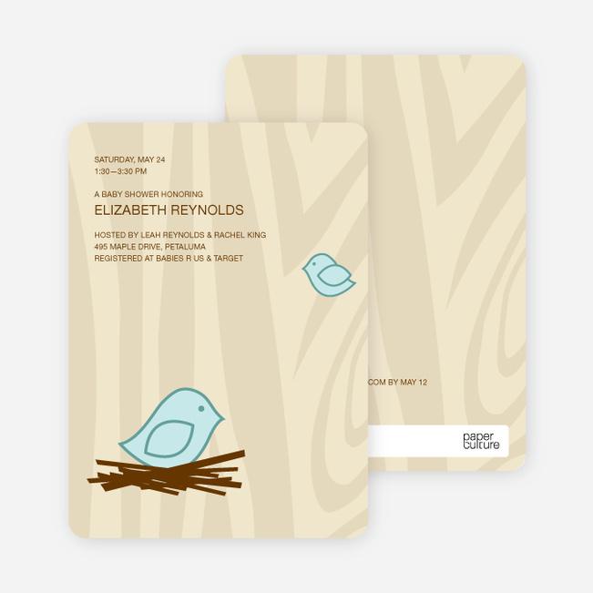 Nesting Bird Baby Shower Invitation Paper Culture
