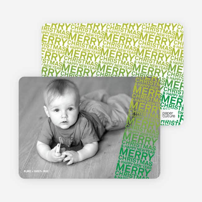 Newsflash Merry Christmas & Happy New Year Photo Cards - Shamrock
