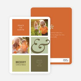 peace on earth holiday photo cards paper culture