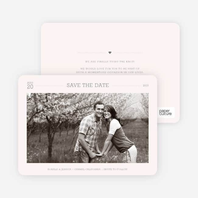 Simple. Classic. Modern. Save the Date Photo Cards - Seashell
