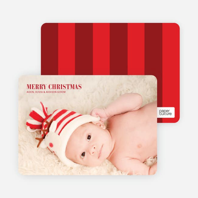39196d0af78d Traditional Type Holiday Photo Cards | Paper Culture