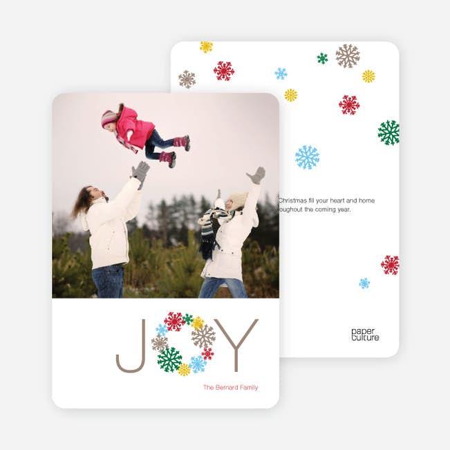 Wreath Of Joy Christmas Card Paper Culture