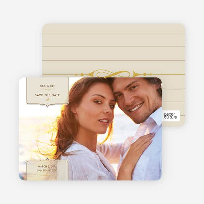 Chic and Modern Save the Date Cards - Oyster