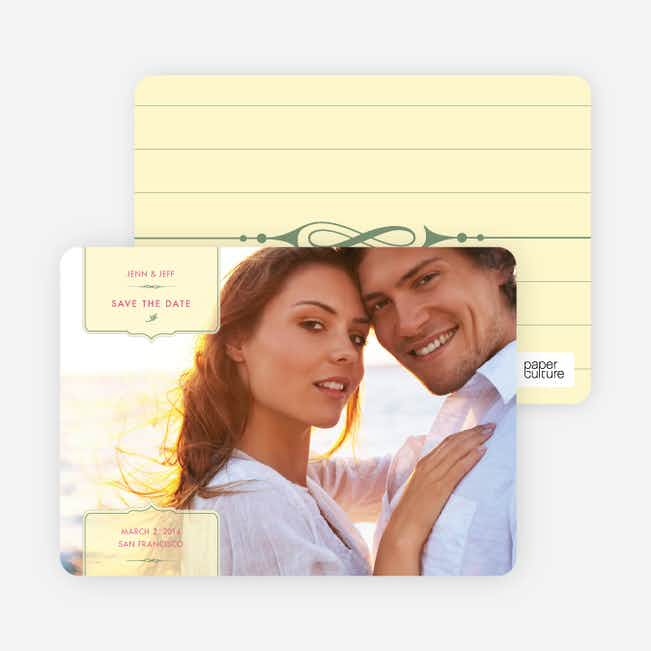 Chic and Modern Save the Date Cards - Vanilla