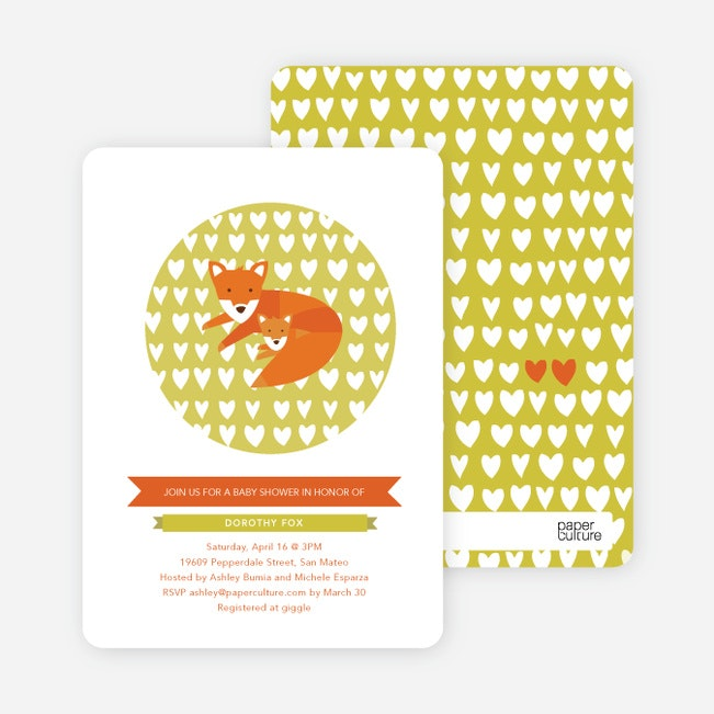 foxy mamatobe baby shower invitations  paper culture, Baby shower invitations